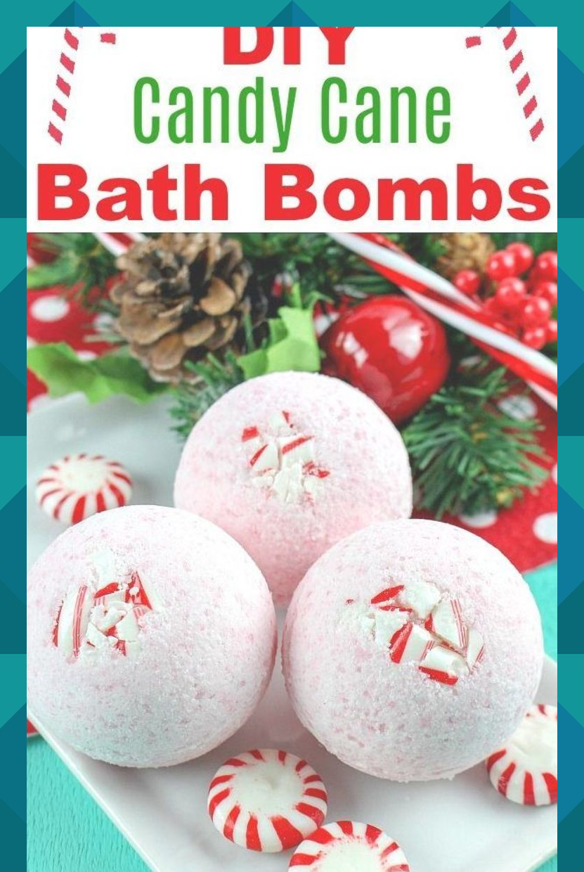 DIY Candy Cane Bath Bombs If you want a fun way to relax