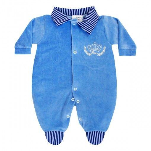 Macacão de Bebê Menino em Plush    764 Kids Loja Online 2208efde1ab