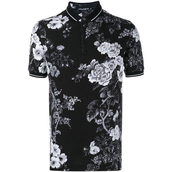 Dolce Gabbana Floral Print Polo Shirt Printed Polo Shirts Men Floral Shirt Mens Outfits