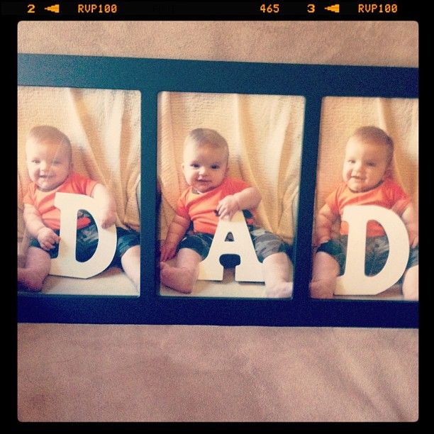 Fathers Love: Father's Day Gift Idea. Would Be Cute With Each Girl