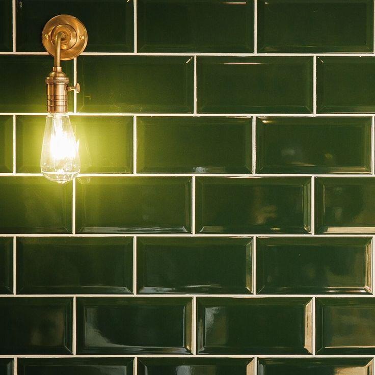 Metro Dark Green Ceramic Wall Tiles