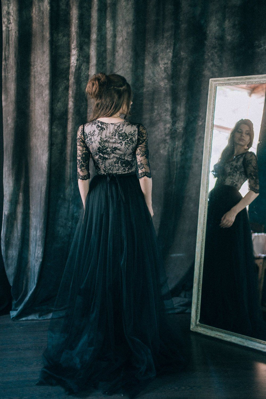 20 Beautiful And Bold Black Wedding Dresses Black Wedding Dresses Bridal Outfits Wedding Day Dresses [ 1500 x 1000 Pixel ]