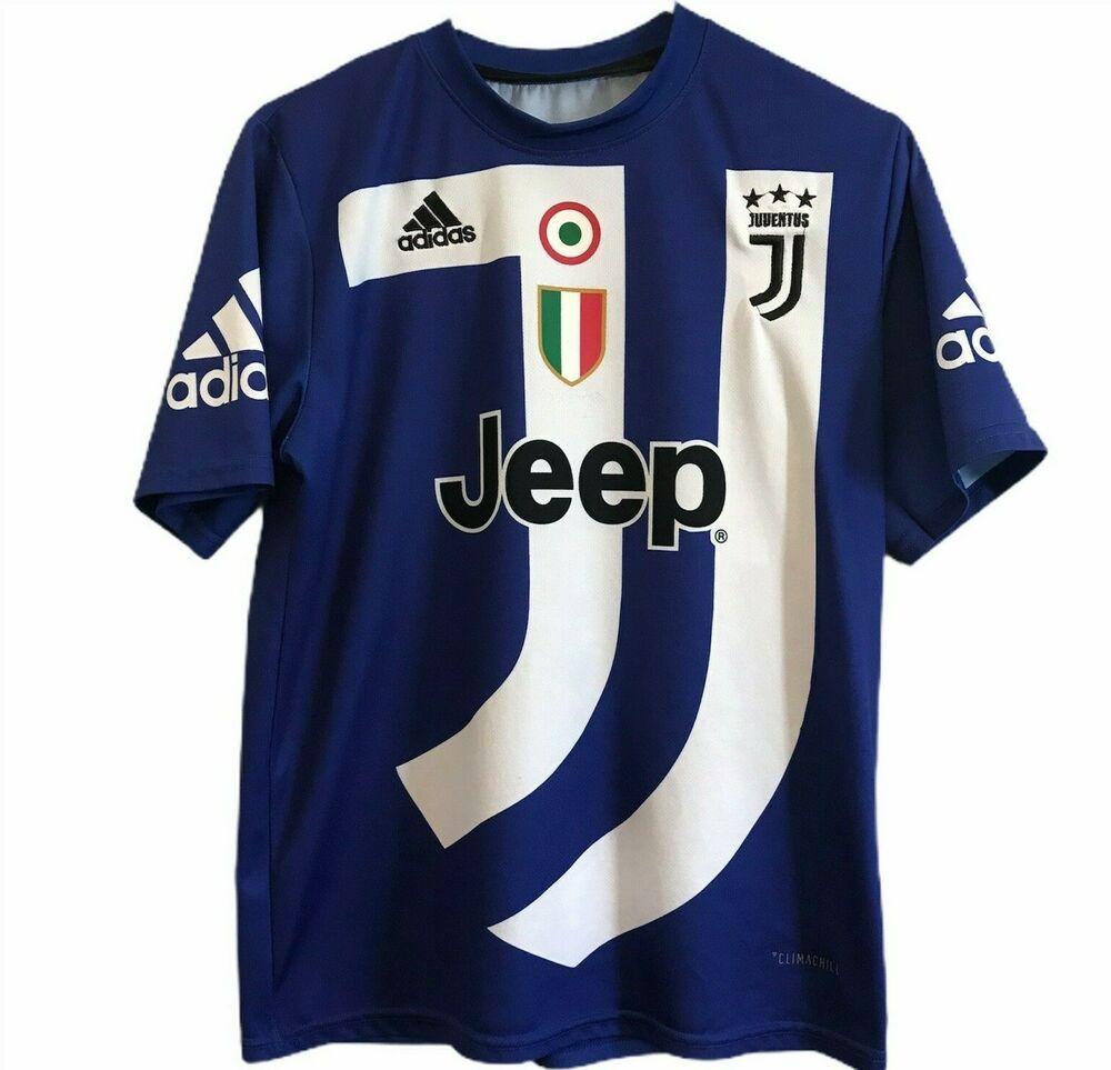 Adidas Cristiano Ronaldo Juventus Size Medium Jeep Shirt Cygames Climachill #7 #Adidas #Juventus