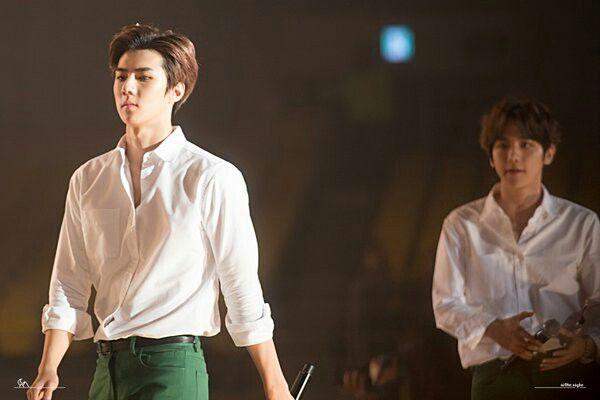 EXO 엑소 || 160114 25th High1 Seoul Music Awards || Oh Se-hun 오세훈 - Byun Baek-Hyun 변백현