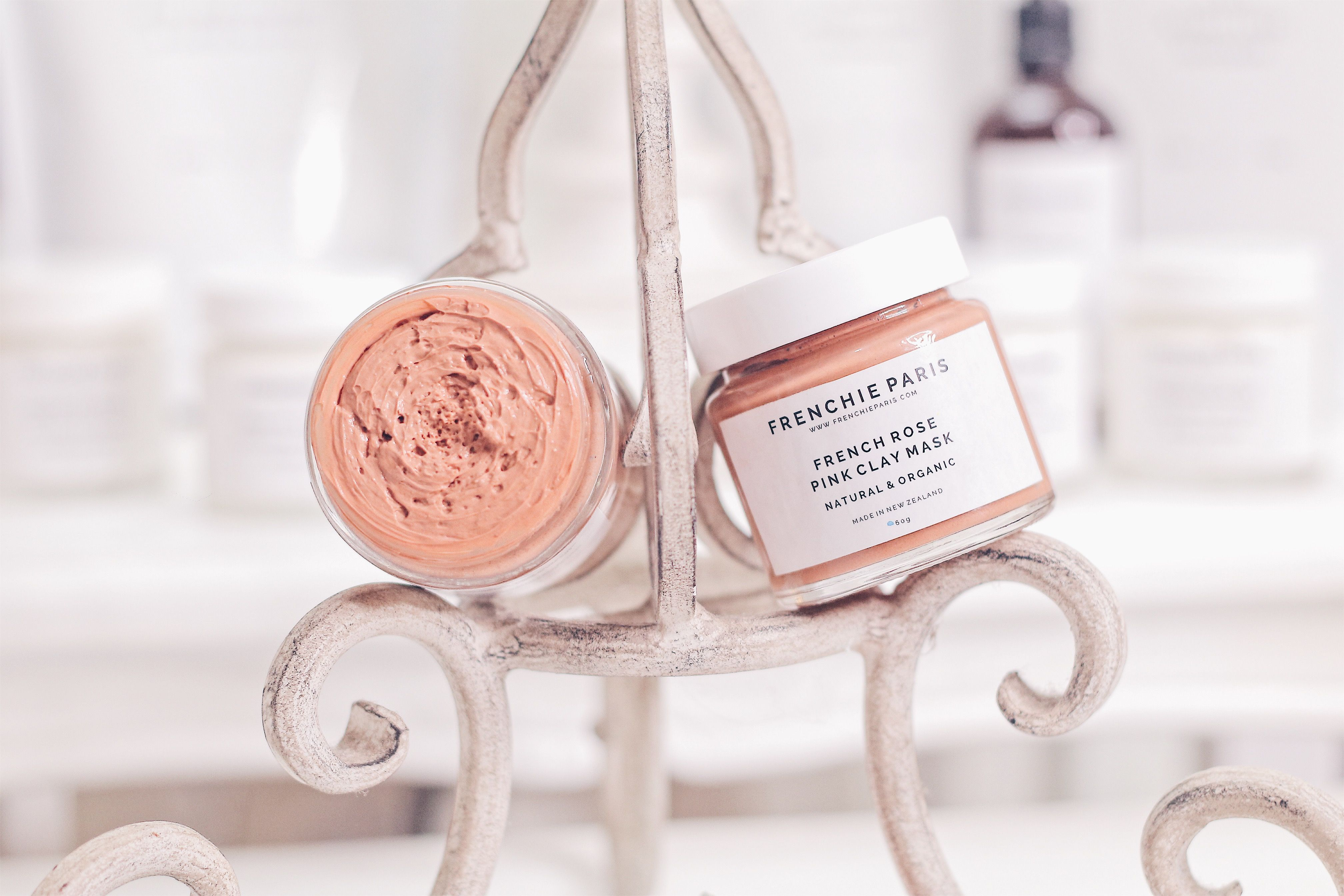 French Rose Pink Clay Mask NZ For Combination, Dry, Oily