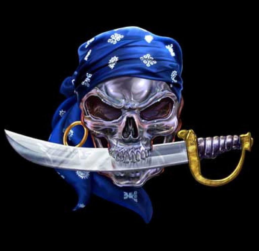 wallpaper skull bones pirate - photo #3