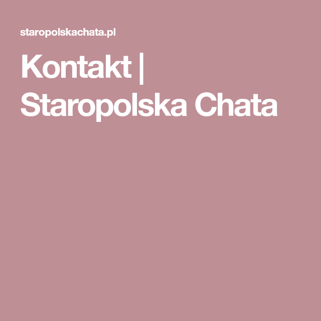 Kontakt Staropolska Chata Lockscreen Screenshot Lockscreen