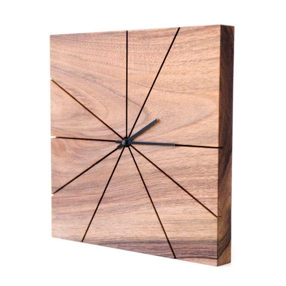 Holz Wanduhr einzigartige Wanduhr von TreebirdWoodDesigns auf Etsy - moderne wanduhren wohnzimmer