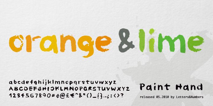 Paint Hand (25% discount, 9,74$) - http://fontsdiscounts.com/paint-hand-15-00/