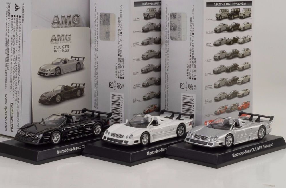 Mercedes Benz  CLK  GTR Roadster  Silver *** KYOSHO 1:64 *SALE*