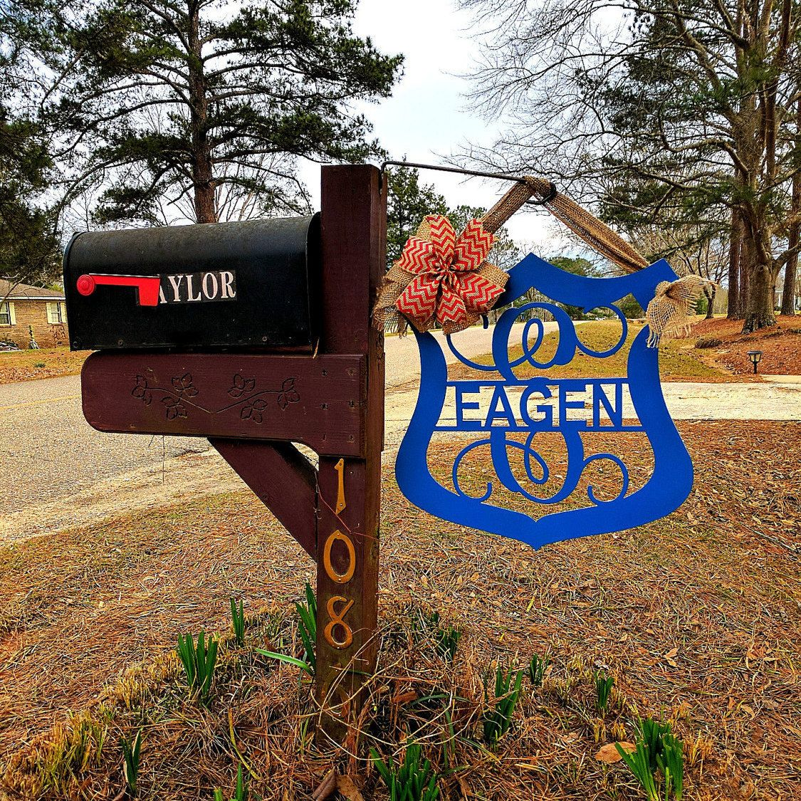 Law enforcement police gifts mailbox decor yard sign