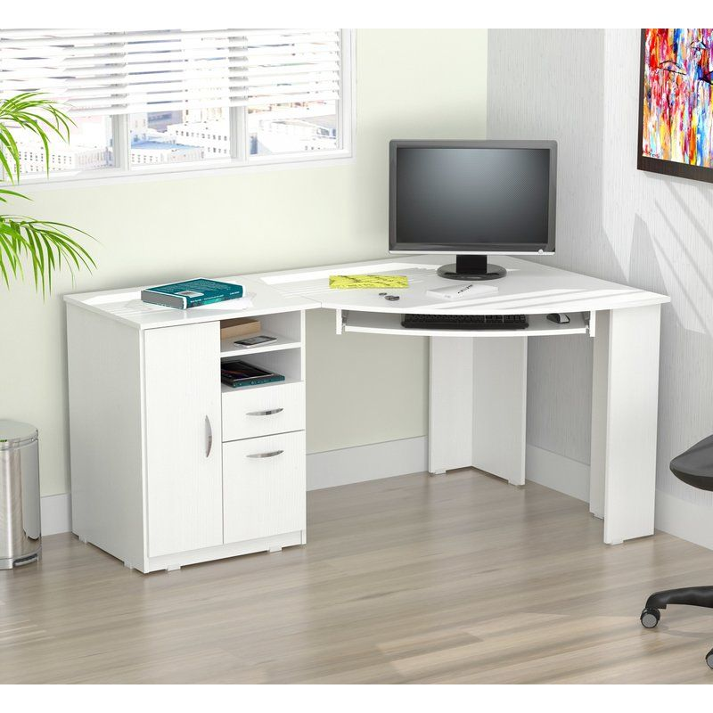 Darya Engineered Wood Corner Executive Desk White Corner Desk White Corner Computer Desk Corner Computer Desk