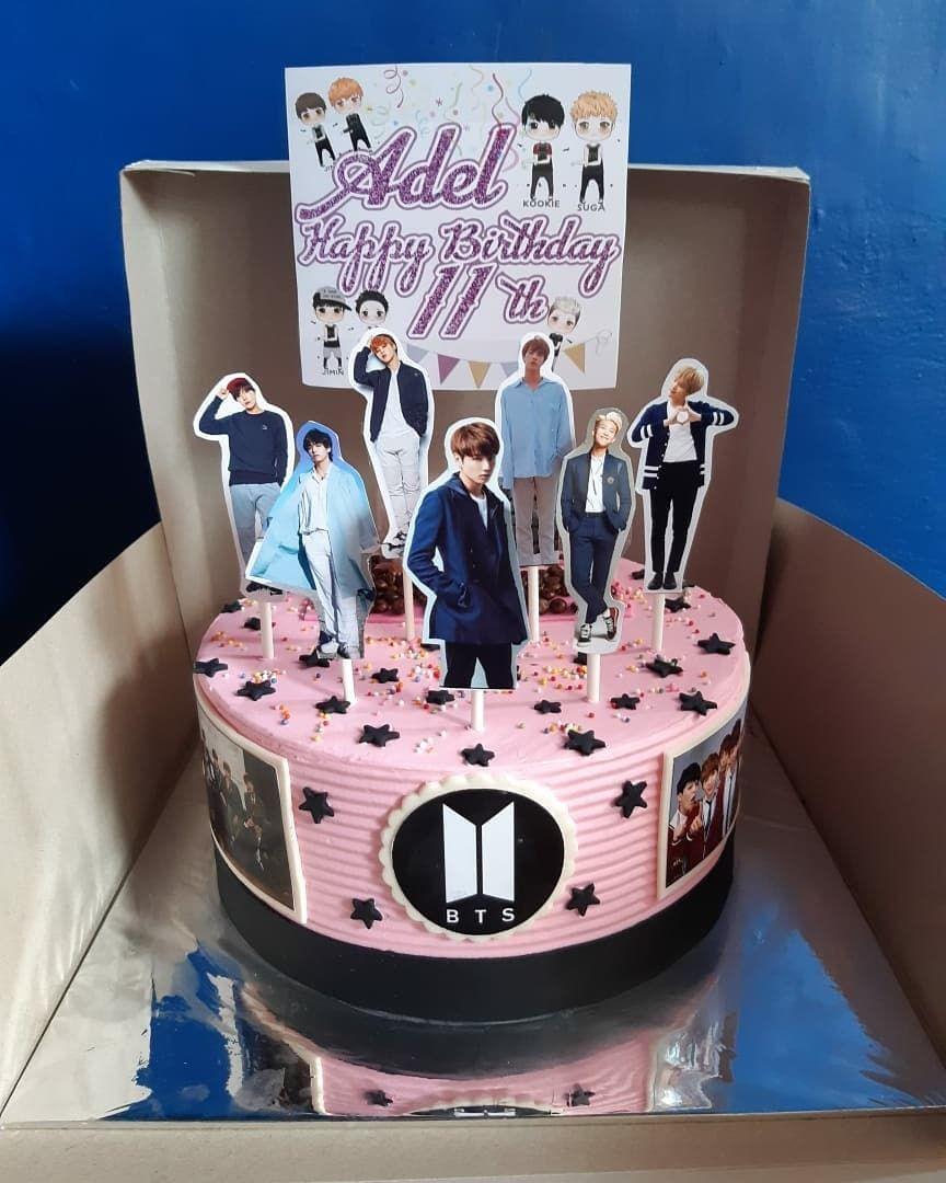 Kue Cakes Terenak Ke 1 Bts Cake Bts Birthdays Elegant Birthday Cakes