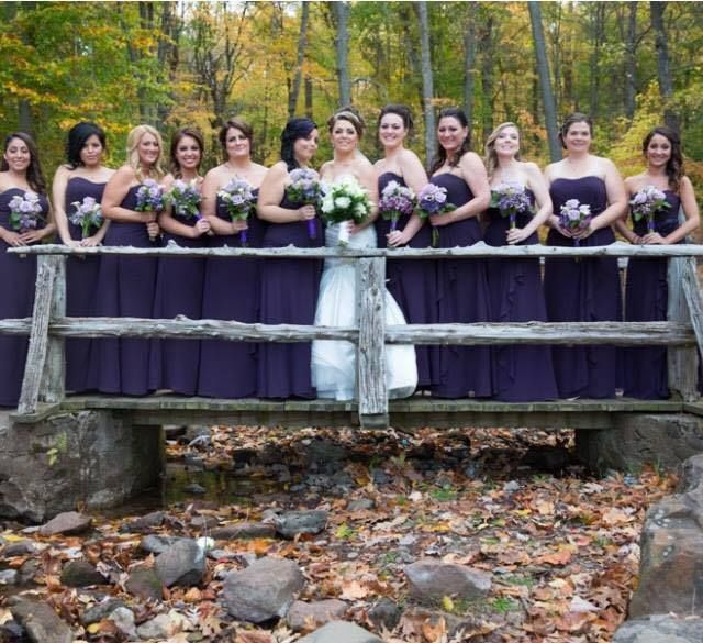 Bridal Gown: from Mariella Creations Bridesmaid Dresses: from Mariella Creations Photograph: courtesy of Geoffrey Roderick Photography