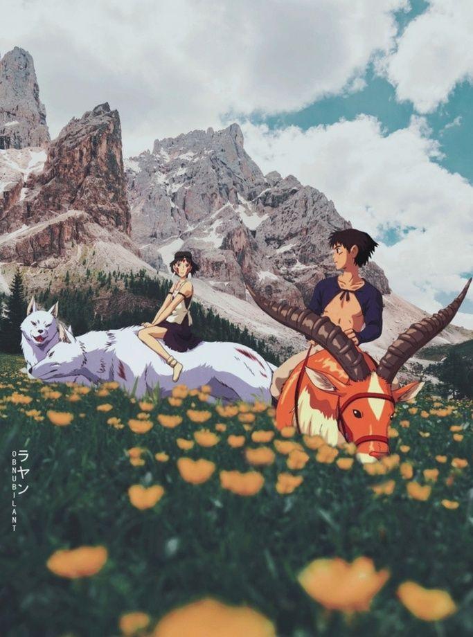 Princess Mononoke, an art print by Obnubilant  ラヤン