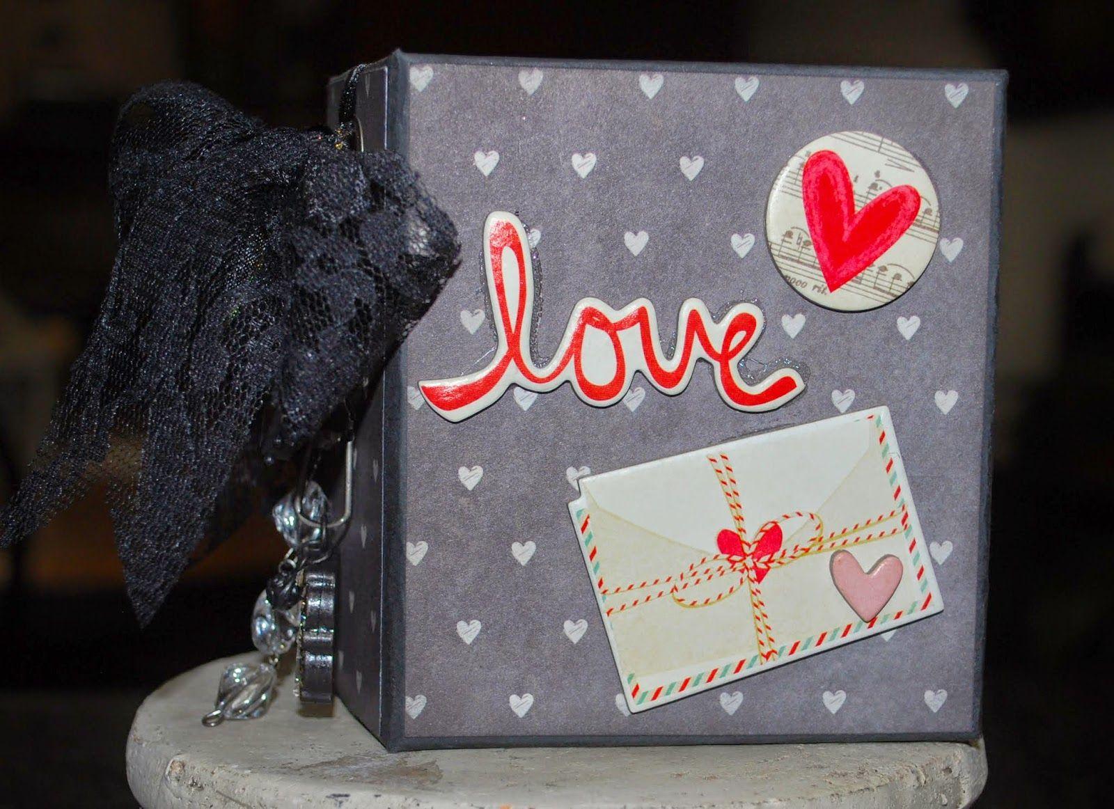 """Jlospaperfun: A Valentines mini album, measures 3 3/4"""" x 4 1/4""""..."""