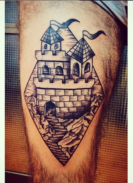 Castle, to the top! Done at Oculto, Barcelona, Spain.