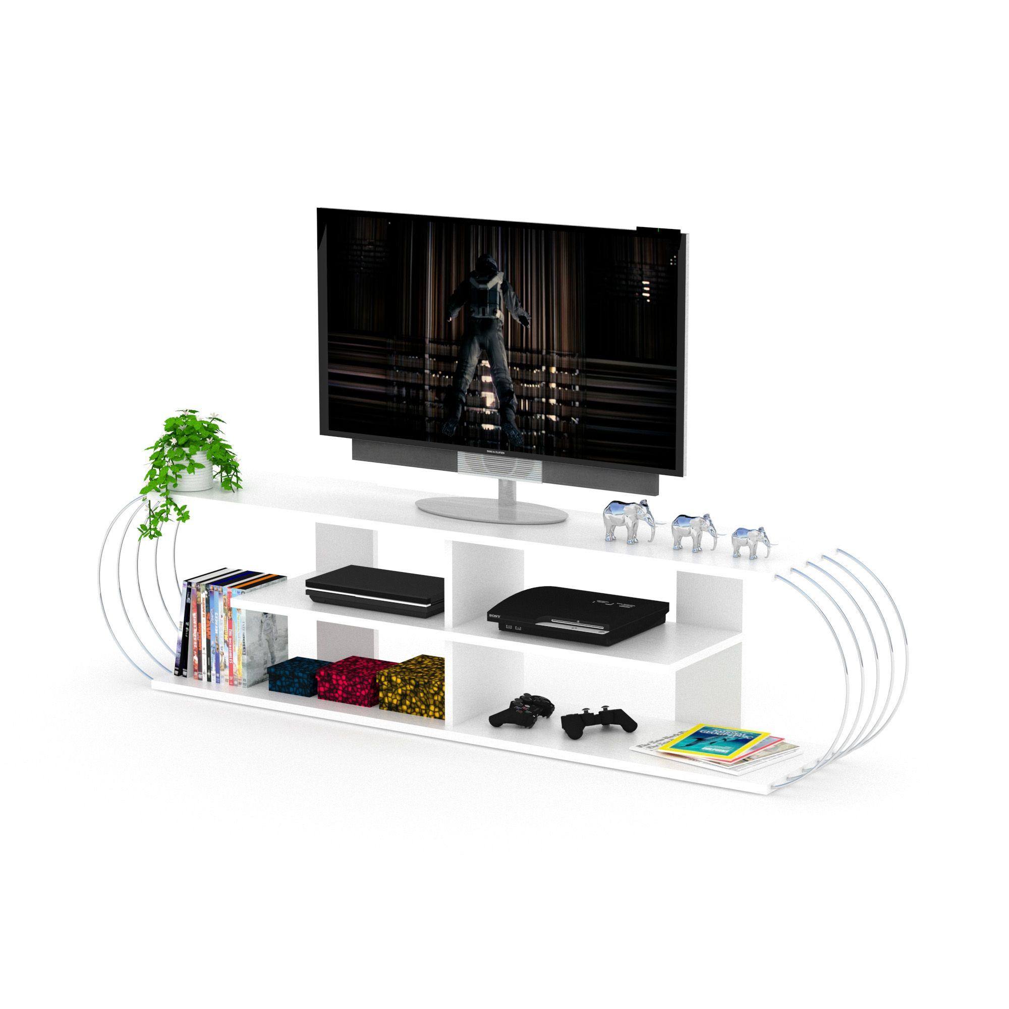 Comoda Tv Case Alb Crom Bonlavie Studio Pinterest # Meuble Tv Woodman