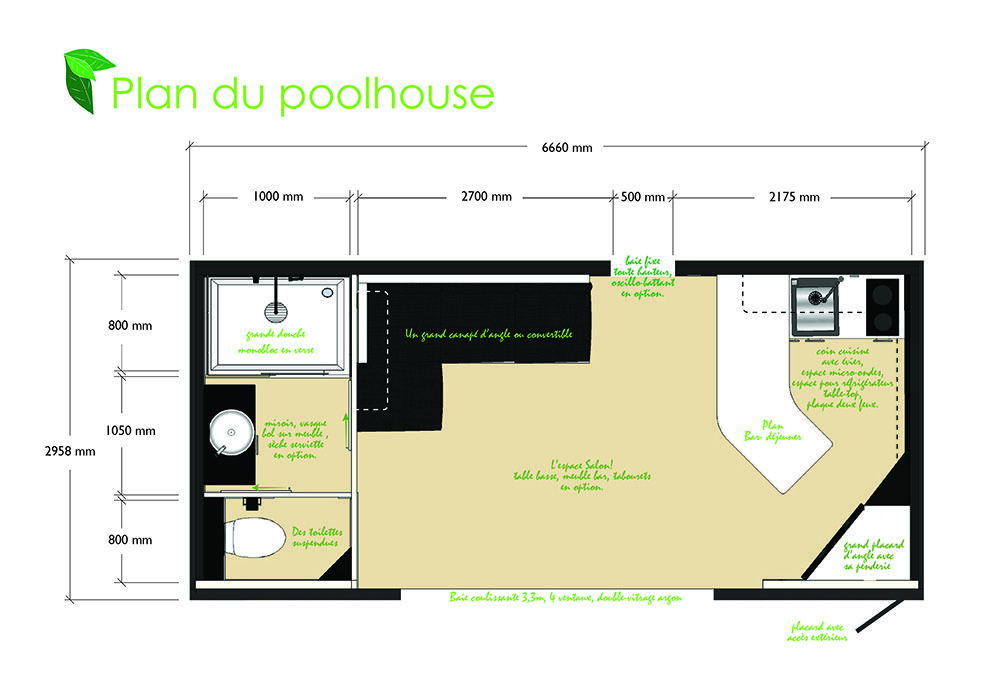 plan poolhouse maison abris piscine garden loft one printer friendly page add this your plans collection - Plan Pool House Piscine