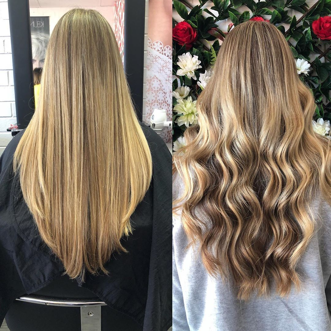 Believe It Or Not This Is The Same Hair Styled 2 Ways What Is Your Favorite Way To Finish A Client S Hair Before Sending Hair Styles Long Hair Styles Hair