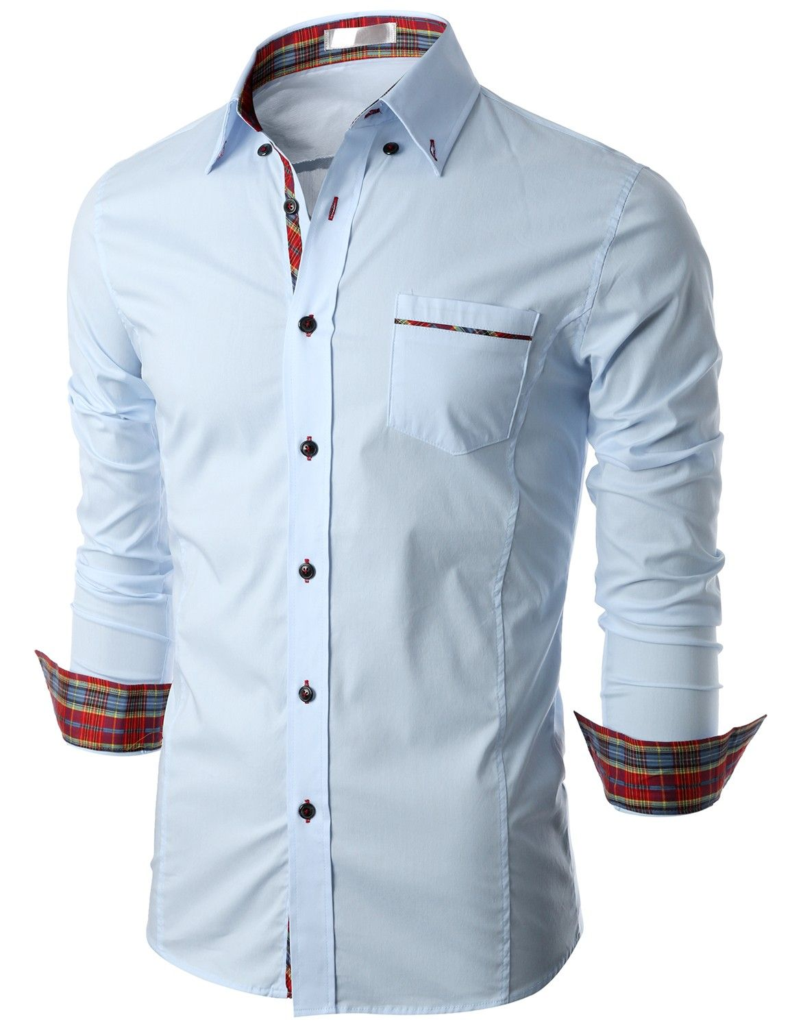 doublju mens long sleeve button down dress shirt kmtstl