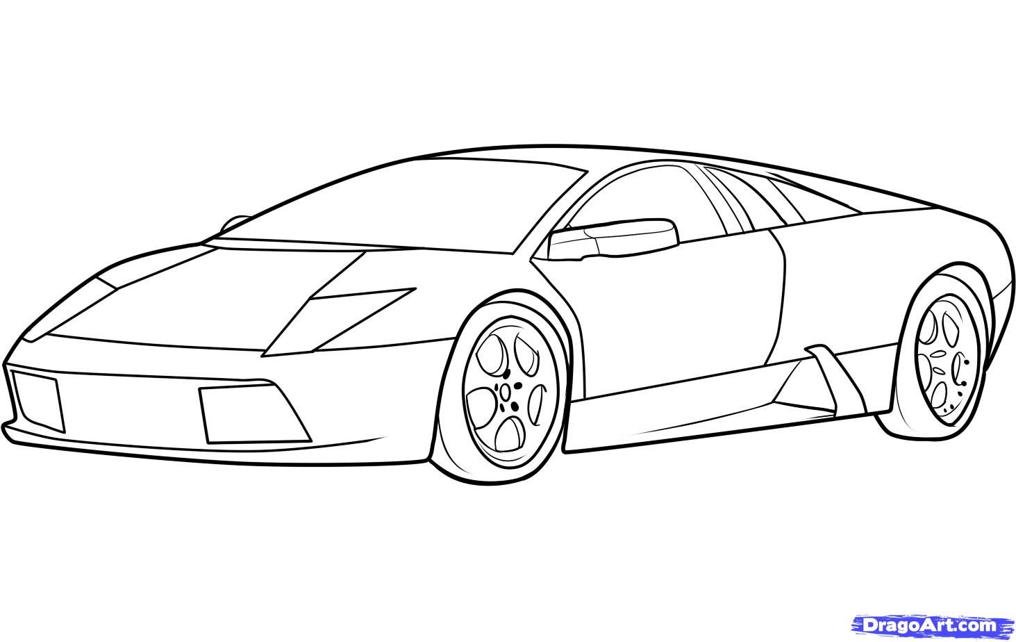 How To Draw Lamborghini Drawings