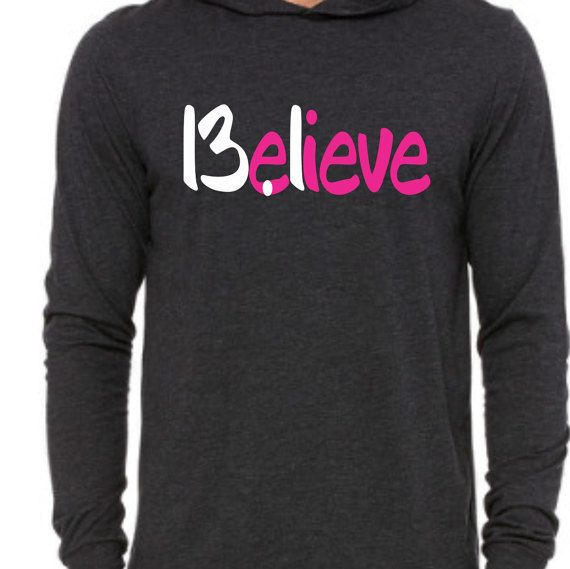 Believe 13.1 Half Marathon Running Unisex Jersey Long-Sleeve Hoodie Super Comfy Soft Perfect for Running Workout Gift Ladies Mens YFrUyIA