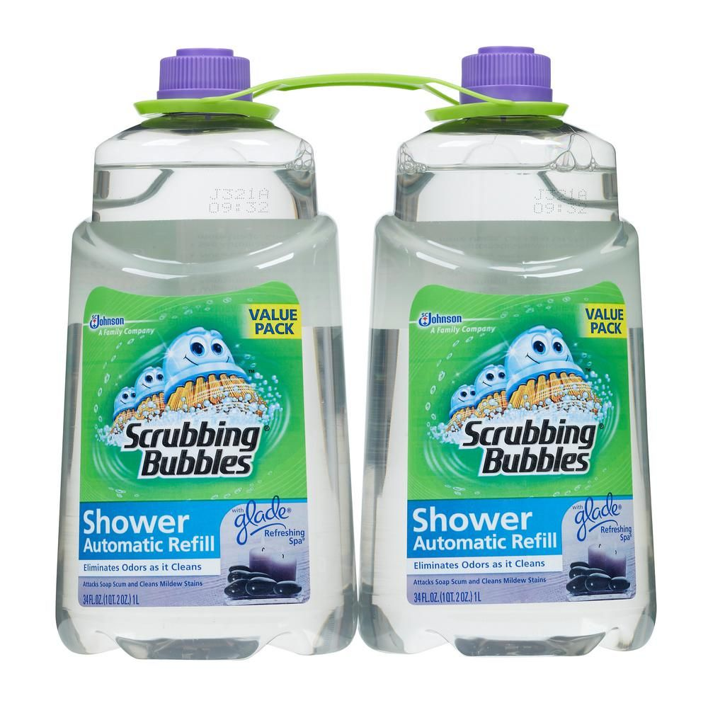 Scrubbing Bubbles 34 Oz Automatic Shower Cleaner Refill With