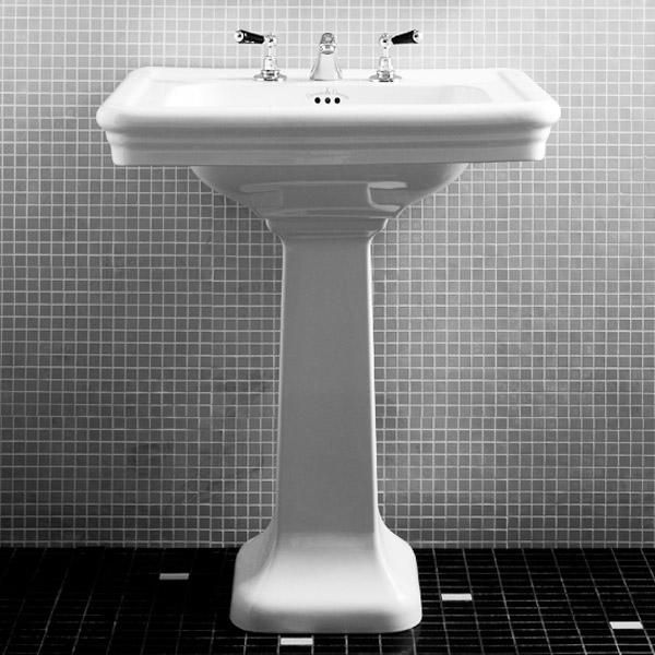 The Etoile Pedestal Basin From Devon And Fits Bill In Terms Of A Traditional Bathroom