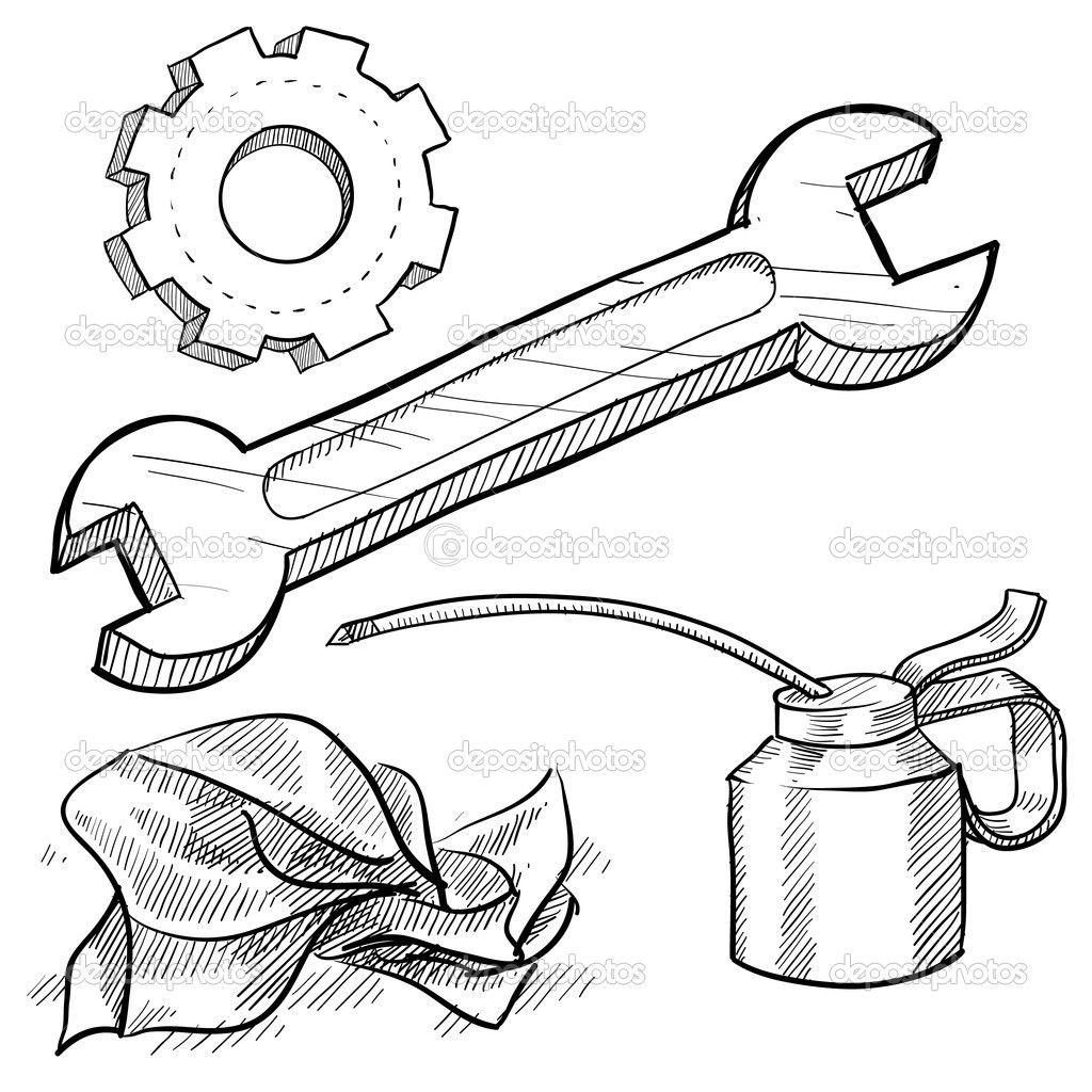 car mechanics tools u2014 stock vector lhfgraphics 14135755