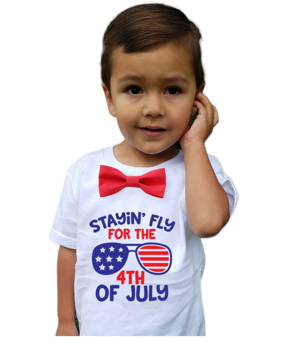 YOUNGER TREE 4th of July Toddler Baby Boy Clothes American Flag Stripe and Star Independence Day 2PCS Outfit