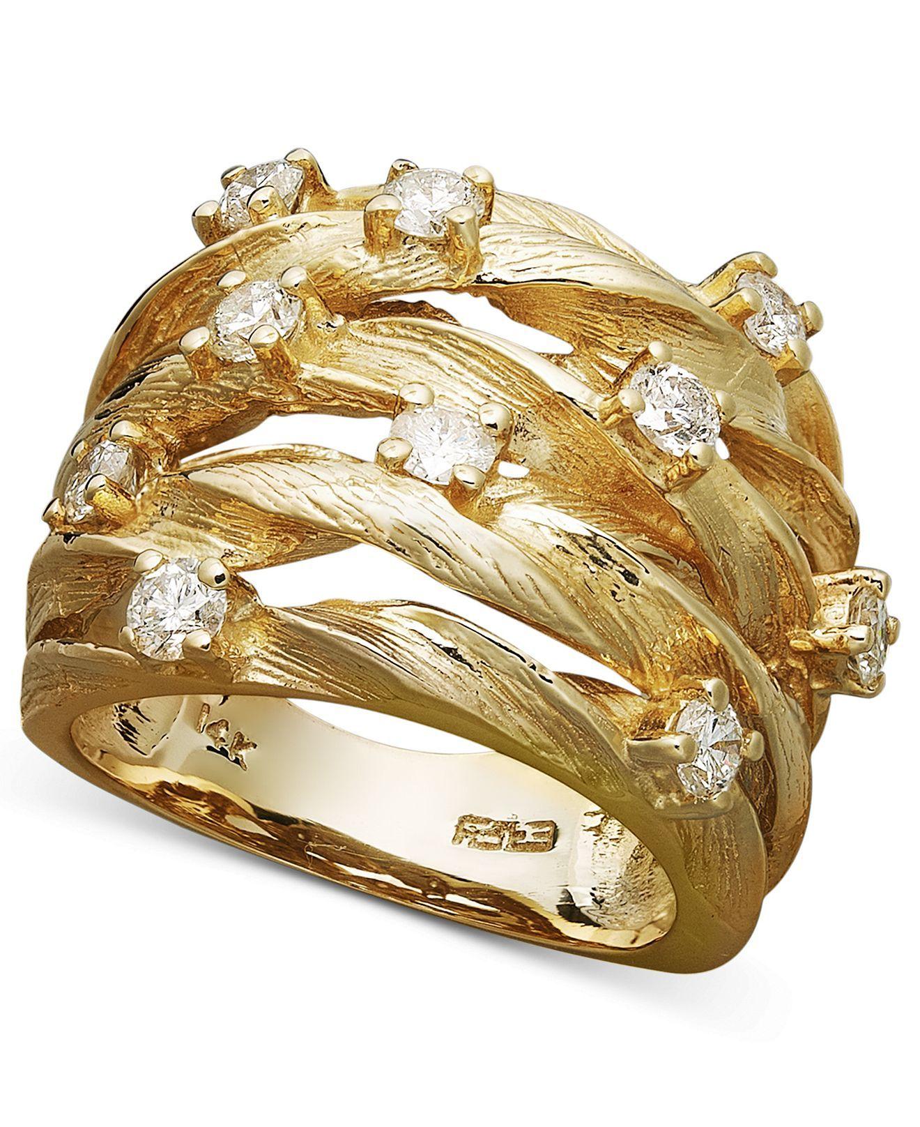 Doro by effy diamond woven ring 1 ct tw in 14k