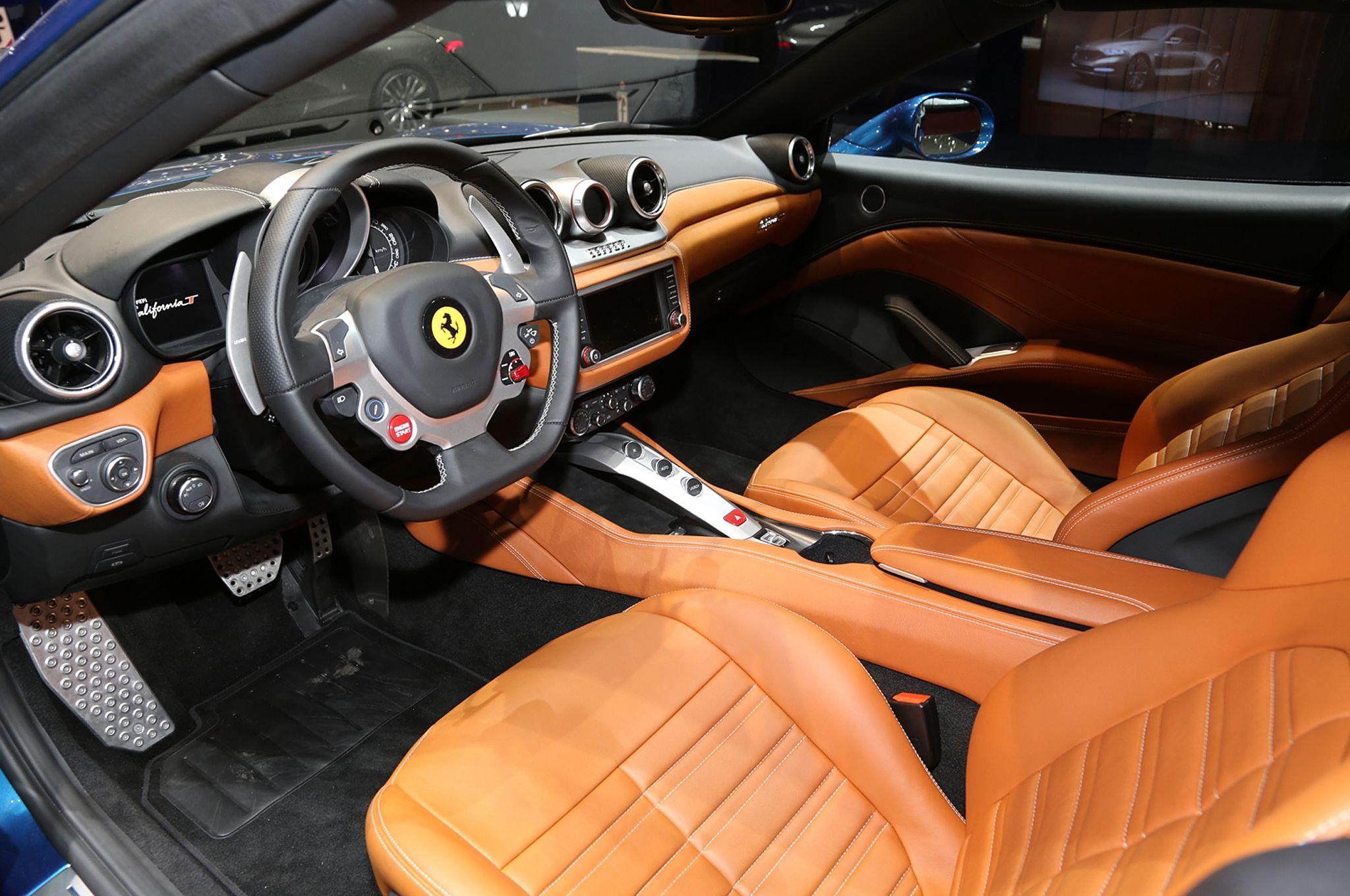 Ferrari California Convertible Black Brown Interior Auto