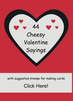 popular cheesy valentine sayings with suggested stamp sets http ...