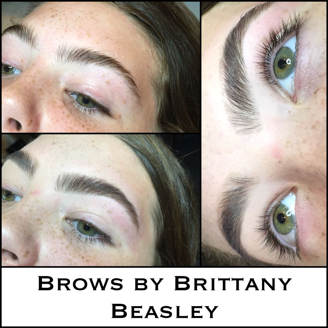 Brow shaping on this pretty girl inside and out!!! She got the works: wax, tint, trim, and fine-tune tweezing. Such a beauty! #browshaping #browgame #browsbybrittany #brows