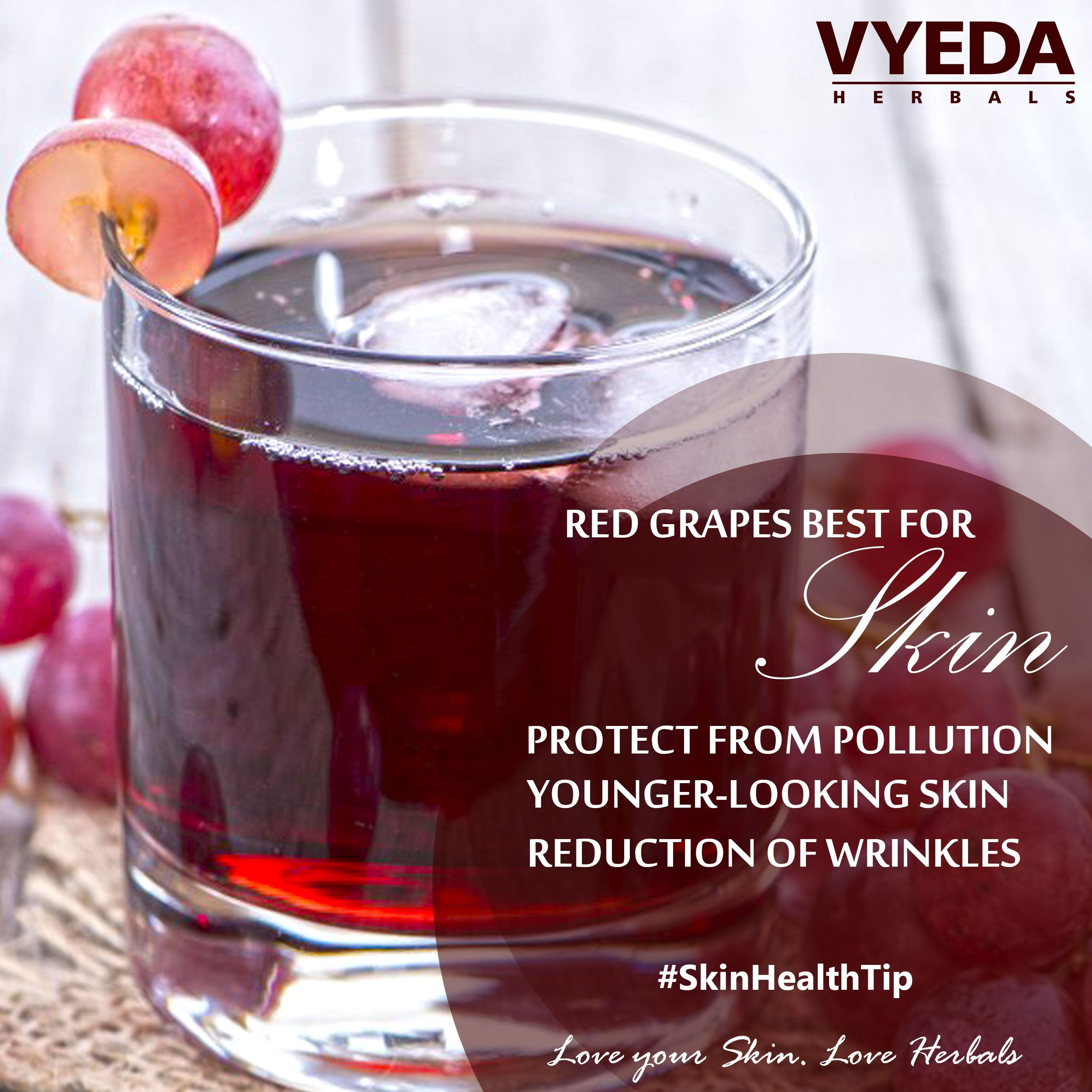 Ever Tried Red Grapes Juice For Good Health Skin Redgrapesjuice Skincare Skinhealthtip Redgrapes Vy Red Grapes Skin Health Love Your Skin
