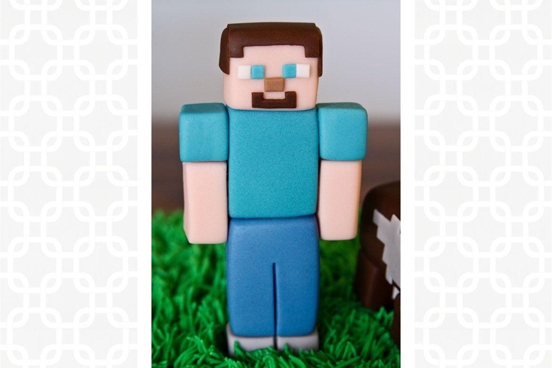 Minecraft Steve Cake Topper Minecraft Cake Toppers