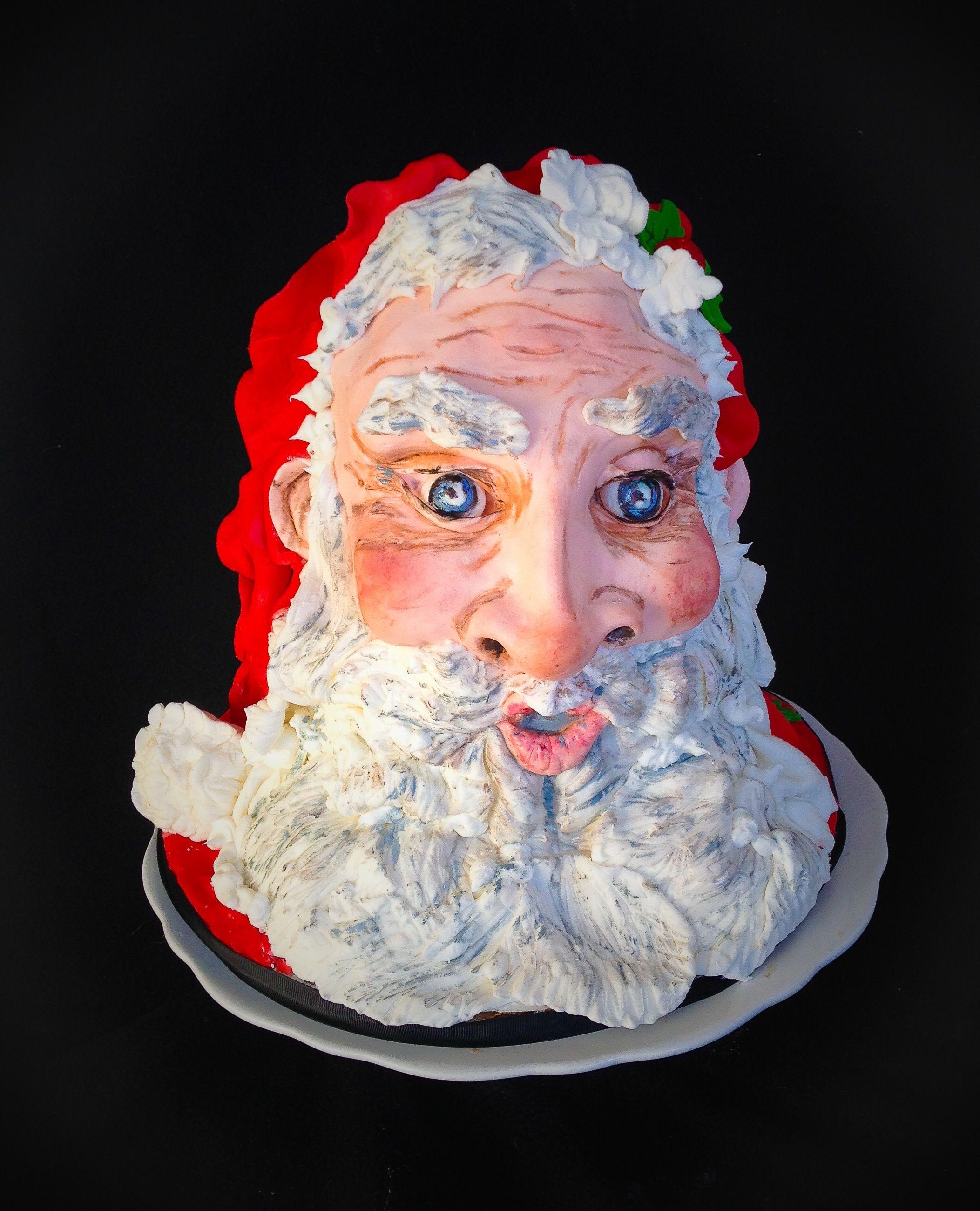 Santa Cake Christmas Cake 3d Sculpted Www Sweet Samantha Com Santa Cake Sculpting Christmas Cake