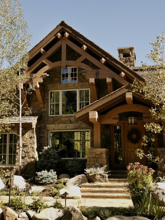 Cabin Design Ideas Pictures Remodel And Decor House Exterior French Country House Traditional Exterior