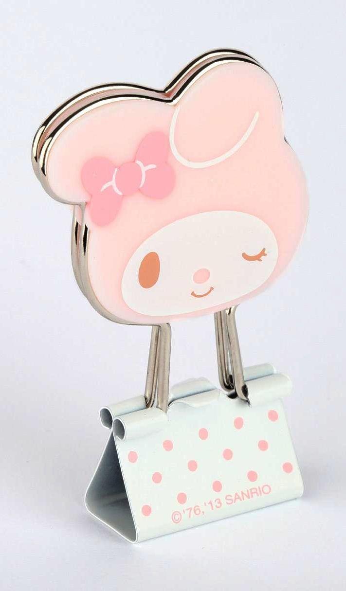 HK  ❣  HELLO KITTY\'s Friend My Melody Die-Cut Binder Clips   Hello ...