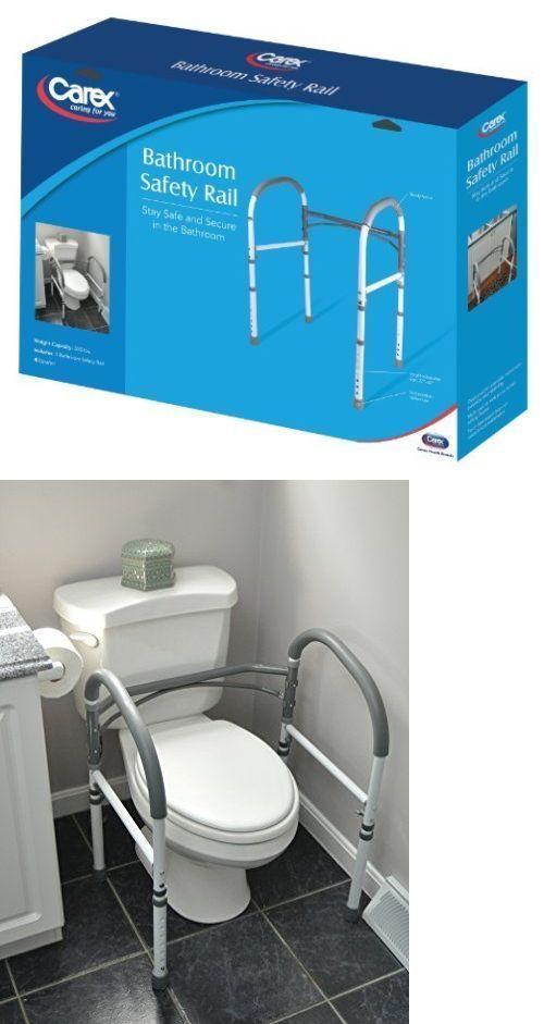Handles and Rails: Carex Bathroom Safety Rail Adjustable Toilet ...