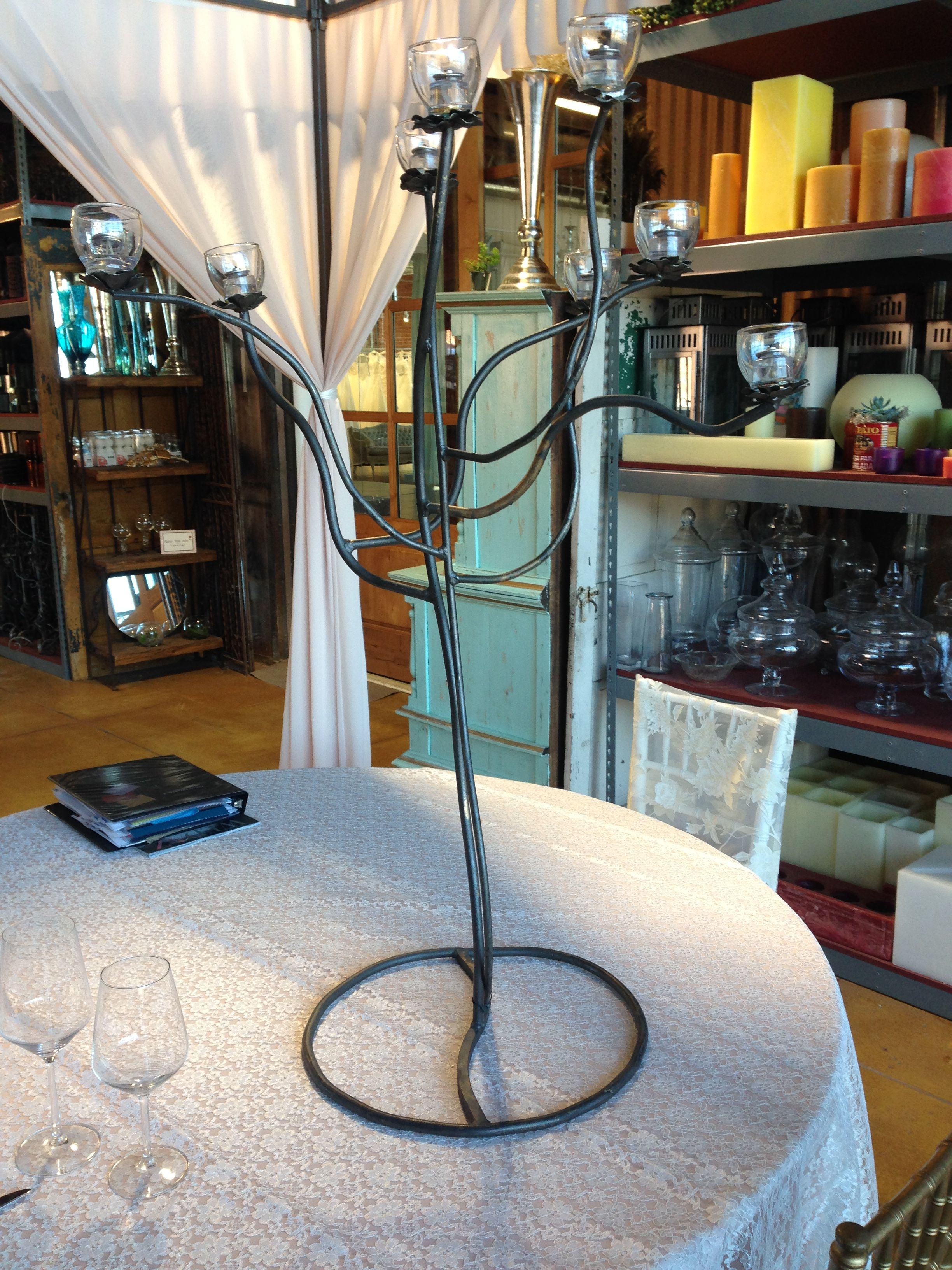 Another picture of the Table Tops candle stanchion (can be painted gold)