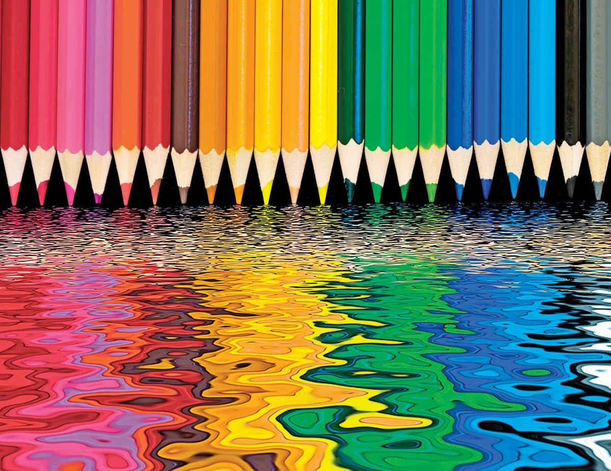 Pencil Pushers 500 Piece Jigsaw Puzzle в 2019 г цветные