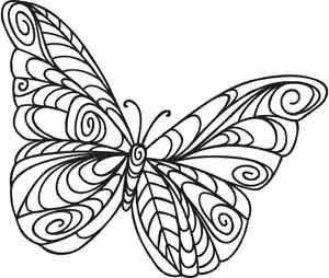 Doodle Butterfly   Urban Threads: Unique and Awesome Embroidery Designs