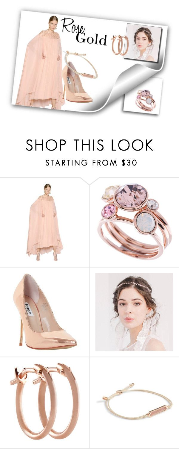 """""""Untitled #139"""" by andrea-geisler ❤ liked on Polyvore featuring Elie Saab, Ted Baker, Dune, Pori, Vera Bradley, rosegold, women and fashionset"""