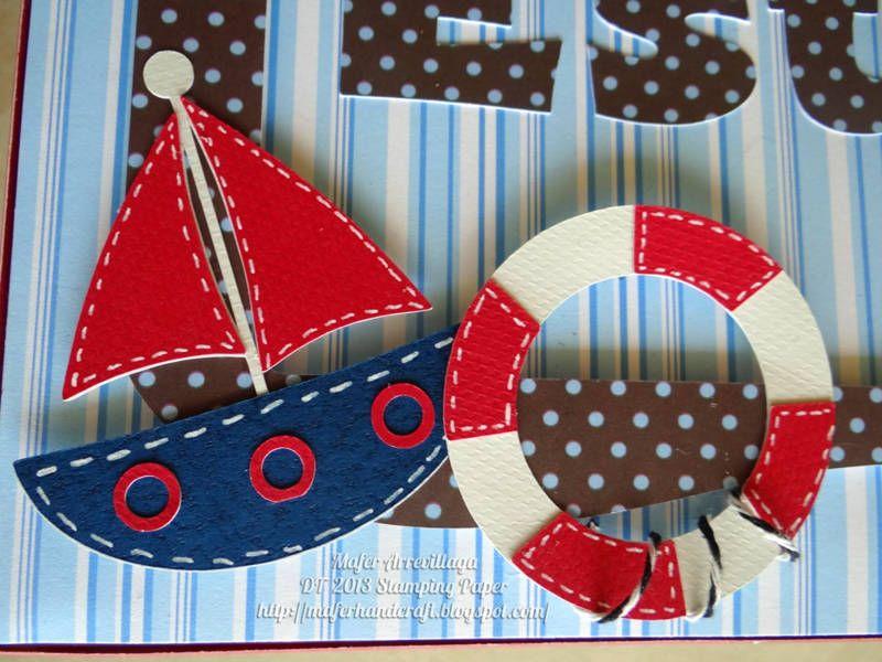 adornos hechos en foami para baby shower de marinero
