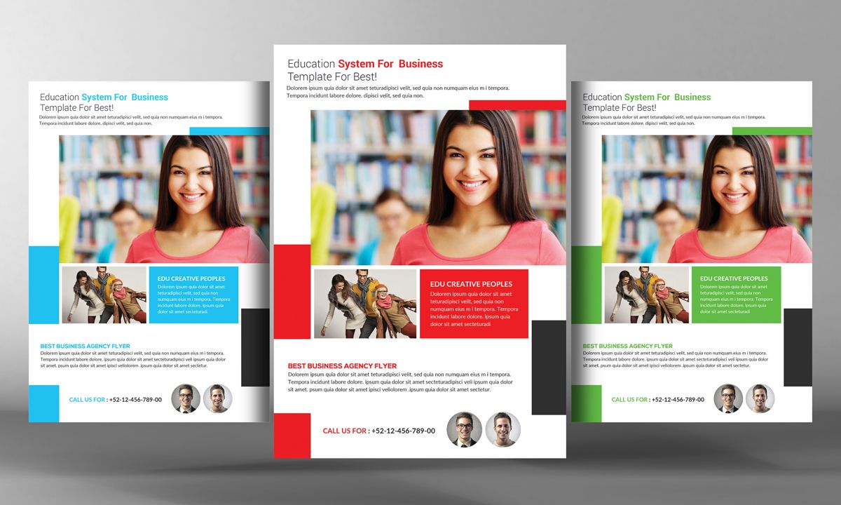 College Education Flyer Template By Business Templates On Creative