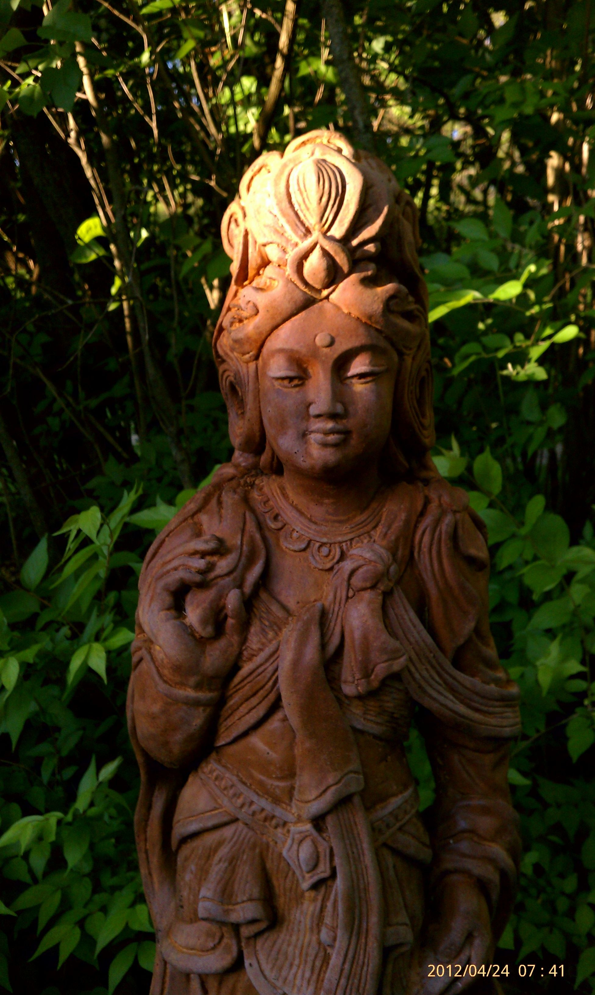 Garden Quan Yin  Her Iconography Is Unusual  Never Seen Her Hair Face