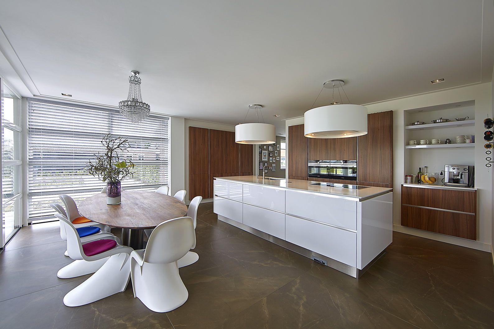 Keuken modern kookeiland eetkamer serre brand bba i bba