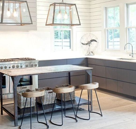 Kitchen heaven. Love those lamps. Pic courtesy of @The Stylephiles